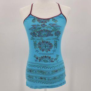 Free People Multicolor Fitted Ribbed Boho Tank Top